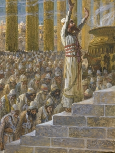 Solomon Dedicates the Temple at Jerusalem, c. 1896-1902, by James Jacques Joseph Tissot